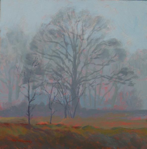 Mark Mehaffey, Foggy Day, acrylic painting