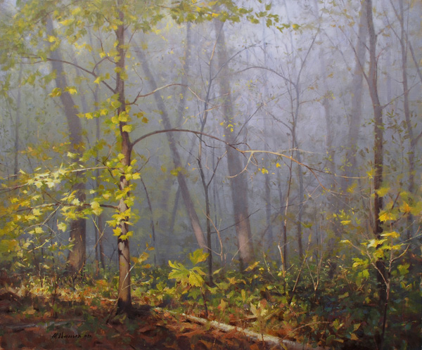 Marc Hanson, Foggy Top, oil, 30 x 36.