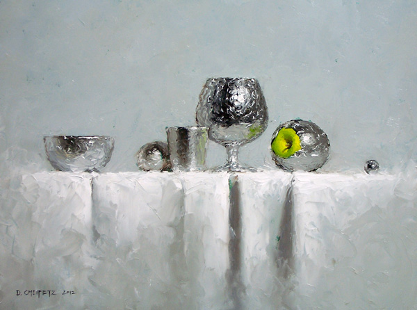 David Cheifetz, Foil Things, oil painting