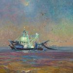 V... Vaughan, Follow the Moon, oil, 20 x 16.