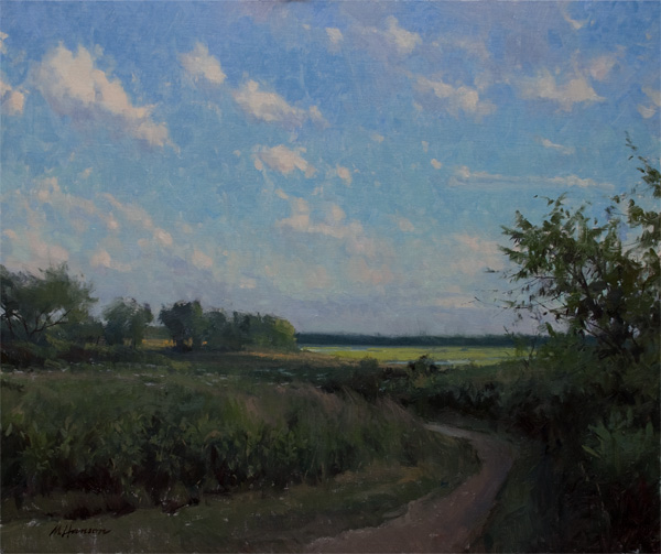 Marc Hanson, Fort Hill Walk, oil, 20 x 24.