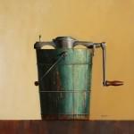 Wendy Chidester, Fre-zee-zee, oil, 32 x 32.