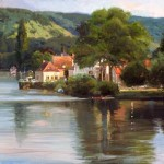 Howard Friedland, Sur la Seine, oil, 30 x 40.