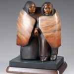 Doug Hyde, Friends and Lovers, bronze, 14 x 10 x 7.