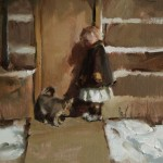 Johanna Harmon, Friends, oil, 10 x 16.