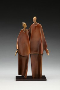 Carol Gold, Friendship, bronze, 14 x 7 x 4.