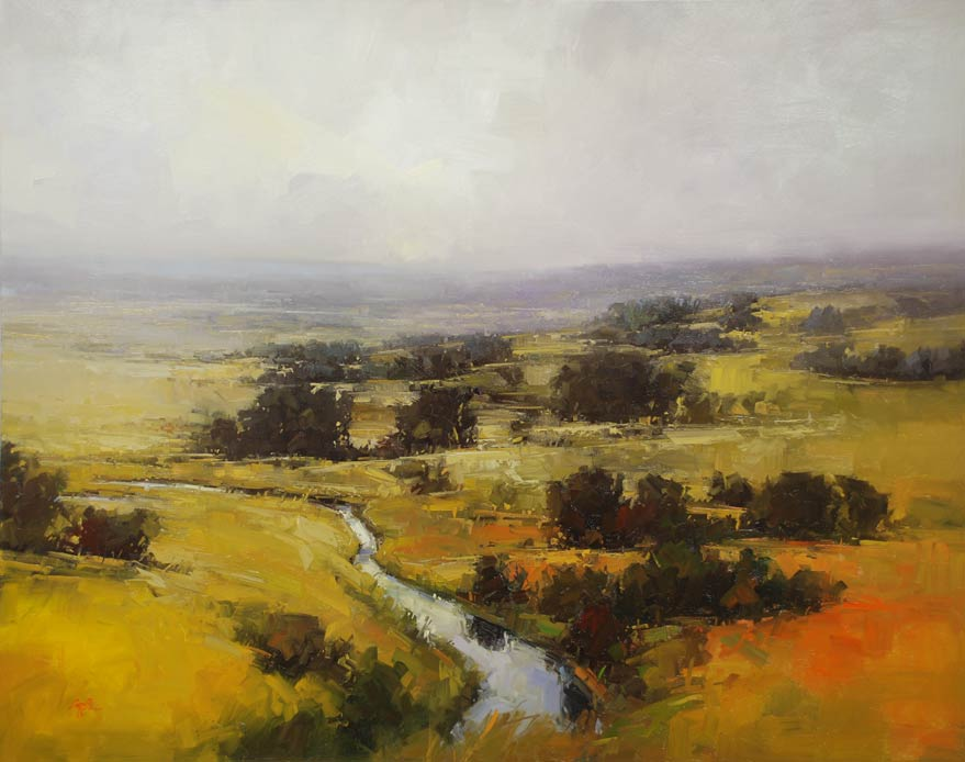 Gregory Stocks | From Above, oil, 48 x 60.