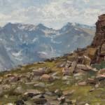 Jason Sacran, Front Range, oil, 9 x 12.