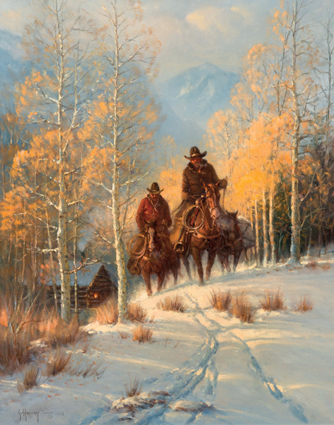 G. Harvey, Through the Golden Aspens, oil, 30 x 24. Estimate: $50,000-$70,000.