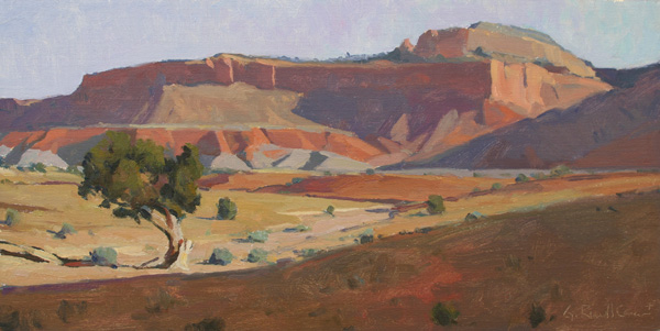 G. Russell Case , Single Tree, oil,10 x 20.