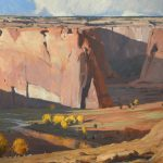 G. Russell Case, Day's End, Canyon de Chelly, oil, 36 x 48.