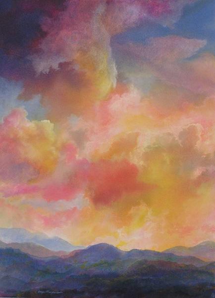 Angus Macpherson, Golden Hour, acrylic, 30 x 22.