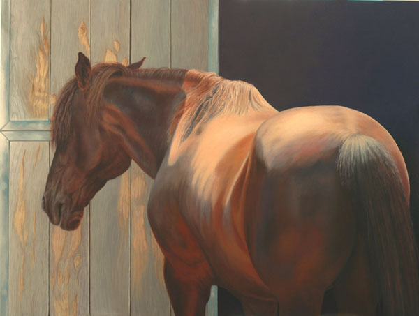 Gail Gash Taylor, Sol Y Sombra, oil, 30 x 40.