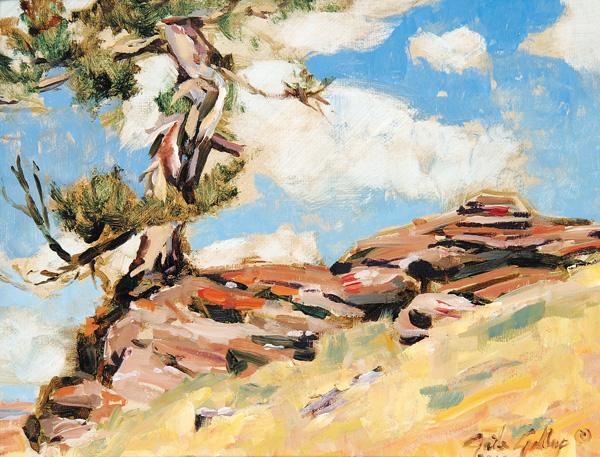 Gaile Gallup, Lone Pine, oil, 8 x 10.
