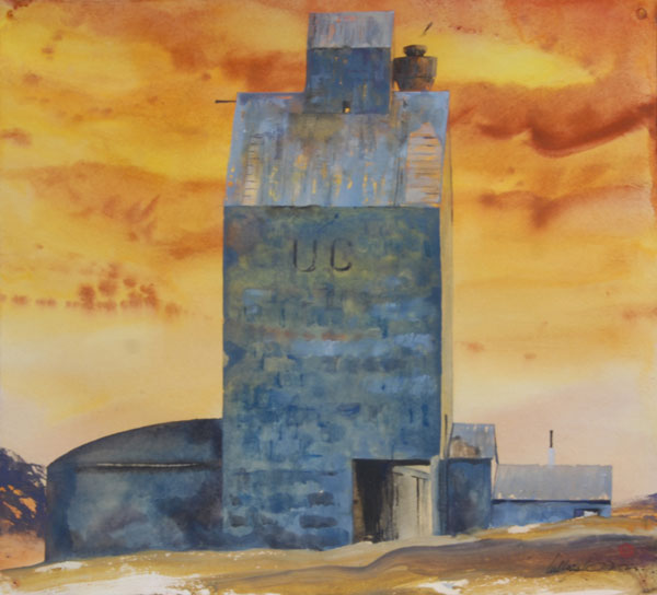 Gamble Ranch Granary #33, watercolor, 22 x 24.