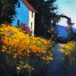 Romona Youngquist, Garden Path, oil, 40 x 40.