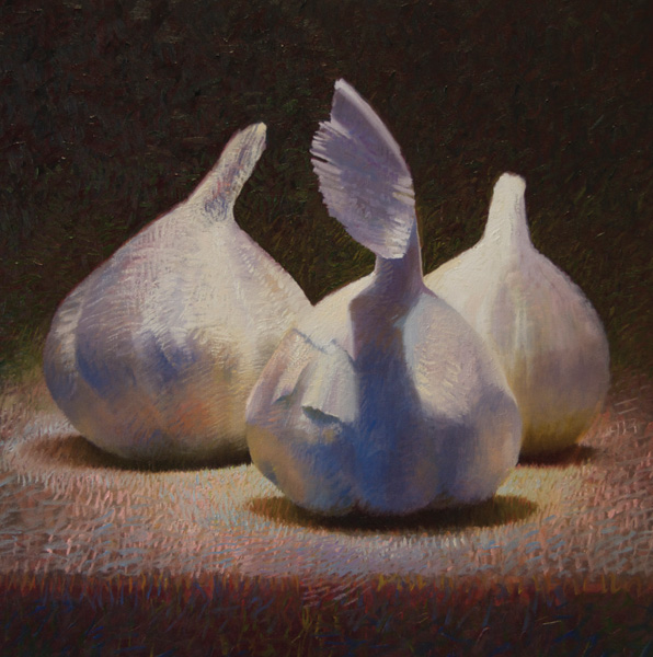 Will Klemm, Garlic, oil, 36 x 36.