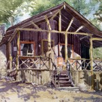 Gene Youngman, Morning Light, watercolor, 8 x 10.