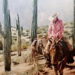 Jessica Gilbert, Wickenburg Woman, oil, 30 x 40.