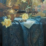 Gladys Roldan-de-Moras, Tosca, oil, 36 x 24.