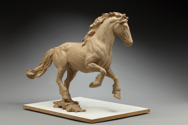Daniel Glanz, Friesian, model clay, 22 x 31 x 9.
