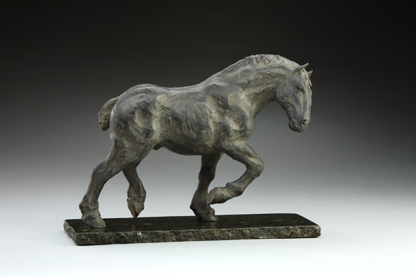 Daniel Glanz, Percheron, bronze, 12 x 6 x 17.
