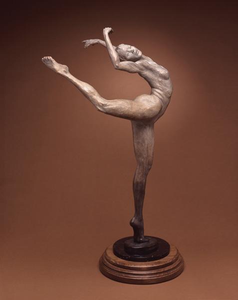 Daniel Glanz, Dancer, bronze, 40 x 23 x 20.