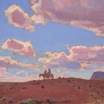 Glenn Dean, Riders of the Red Earth, oil, 24 x 16.
