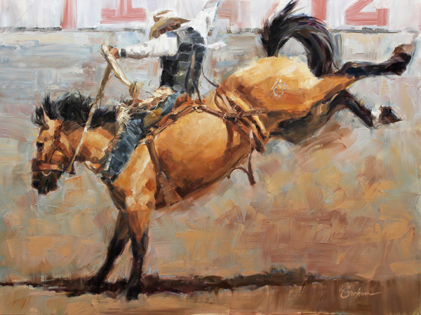 Lindsey Bittner Graham, Glory Ride, oil, 18 x 24.