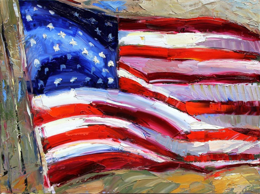 Robert Moore | God Bless America, oil, 30 x 40.