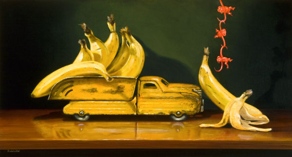 Going Bananas, oil, 12 x 24.