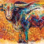 Barbara Meikle, Gold Dust, oil, 24 x 48.