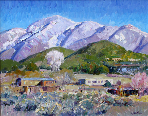 Walt Gonske, Arroyo Hondo, oil, 22 x 28, Nedra Matteucci Galleries.
