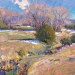 "Walt Gonske, Snow Patches, 26"" x 30"", Oil on linen"