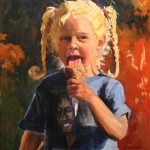 Wendy Gordin, B is for Bob, oil, 20 x 16.