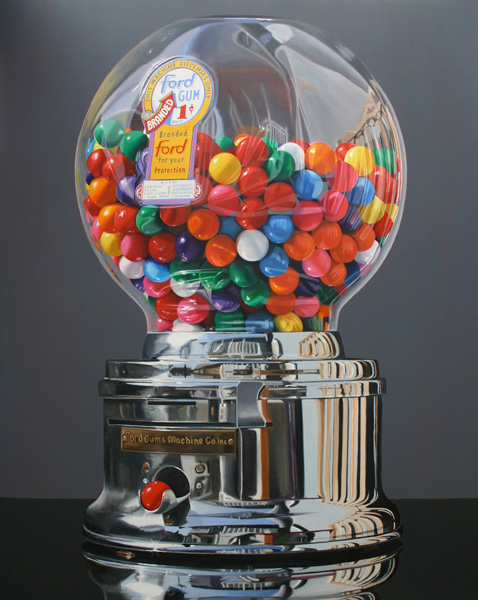 Daryl Gortner, Worth a Pretty Penny, oil, 60 x 48.
