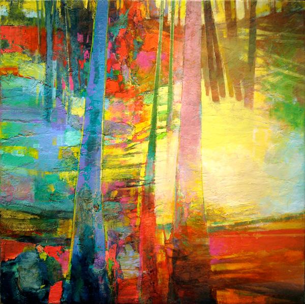 Mark Gould, Hillside—Arcadian #880, acrylic, 30 x 30.