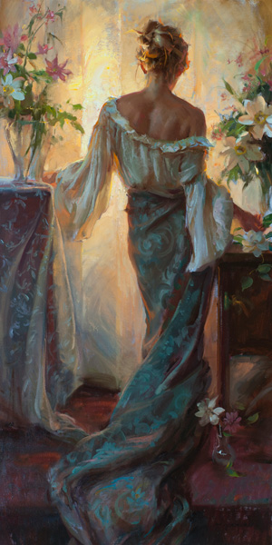 Daniel Gerhartz, Grace and Light, oil, 60 x 30.