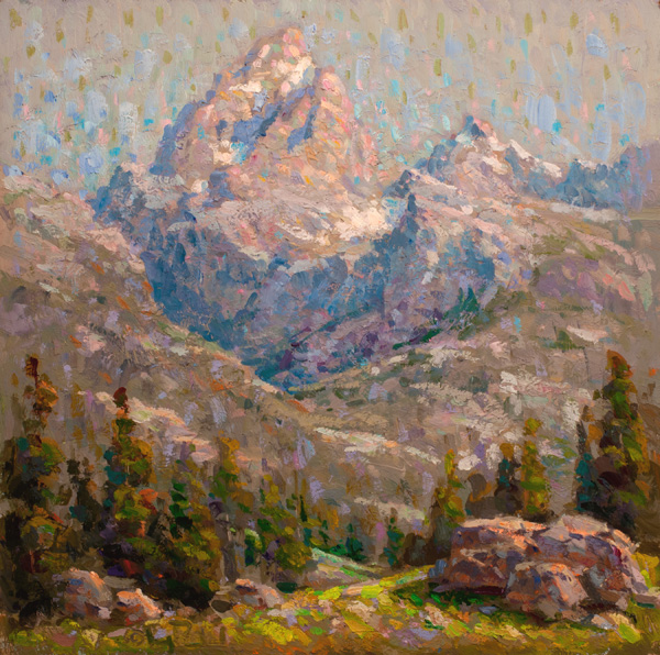 Gregory Packard, Grand Teton, oil, 20 x 20.
