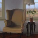 Brett Scheifflee, Grandma's Chair, oil, 14 x 11.