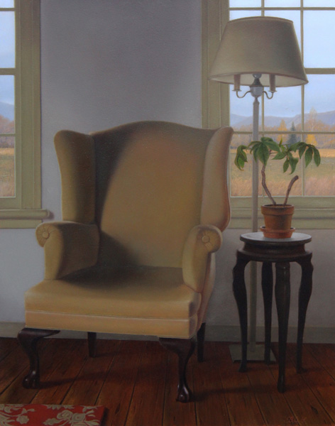 Brett Scheifflee, Grandma's Chair, oil, 14 x 11.