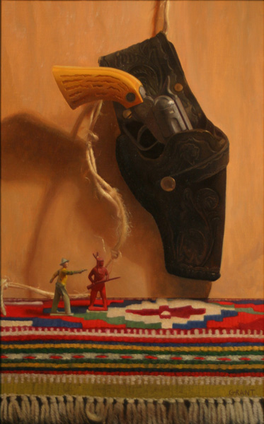 Danny Grant, Wild West, oil, 17 x 11.