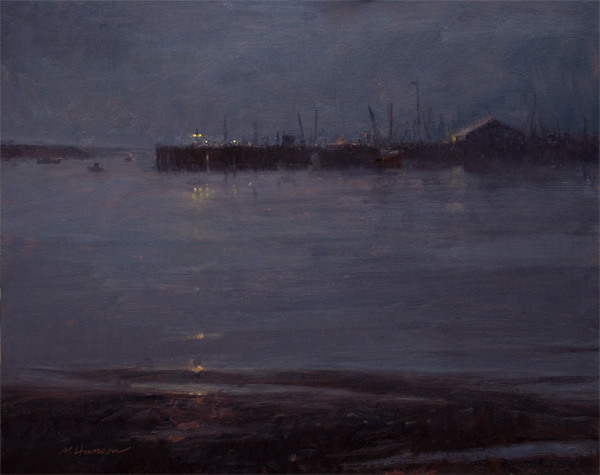 Marc Hanson, Gray Night, oil, 16 x 20.
