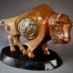 Great Bison, bronze, 14x 20 x 8.