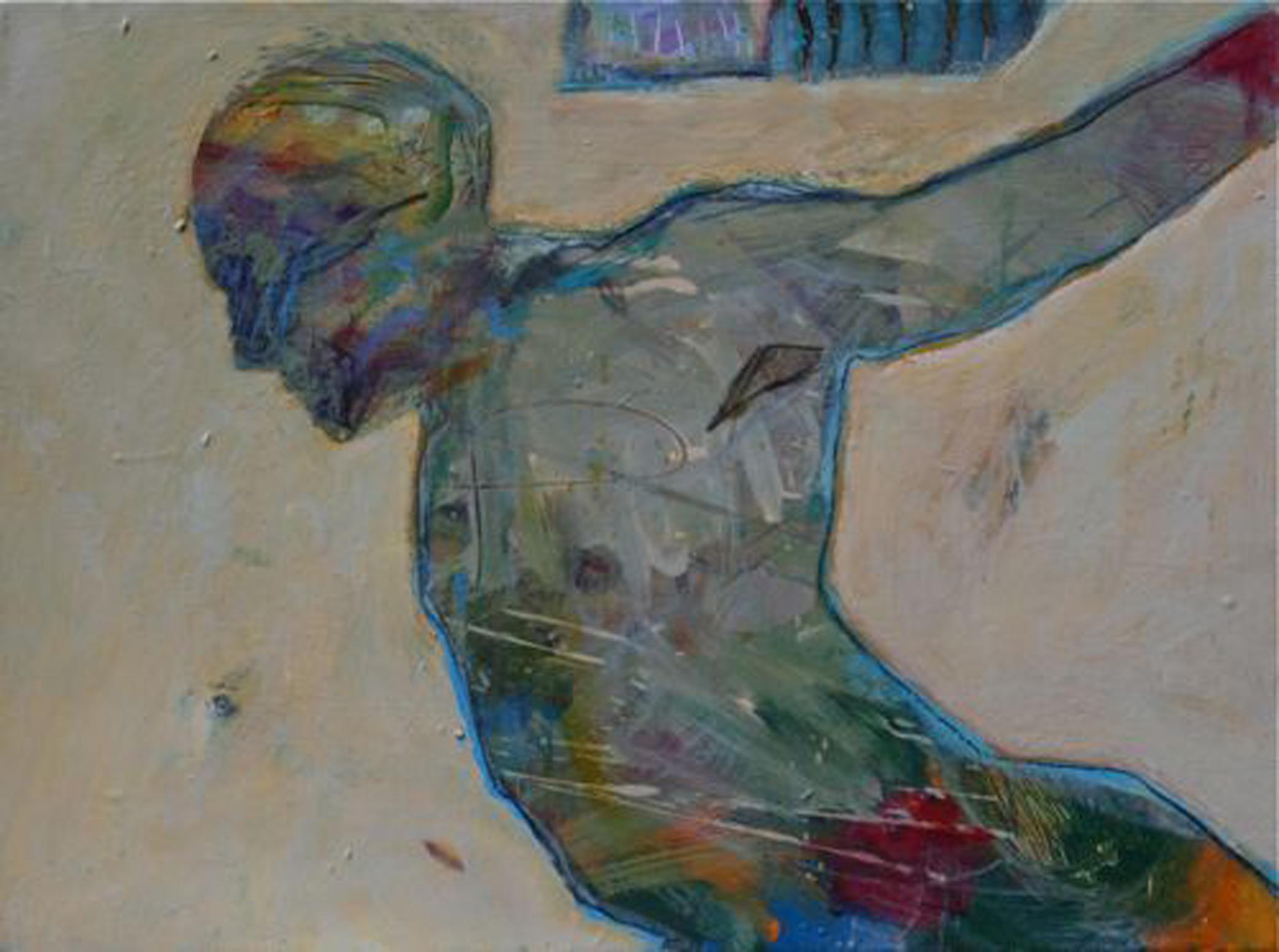 Lance Green, Ascending, acrylic, 18 x 24.