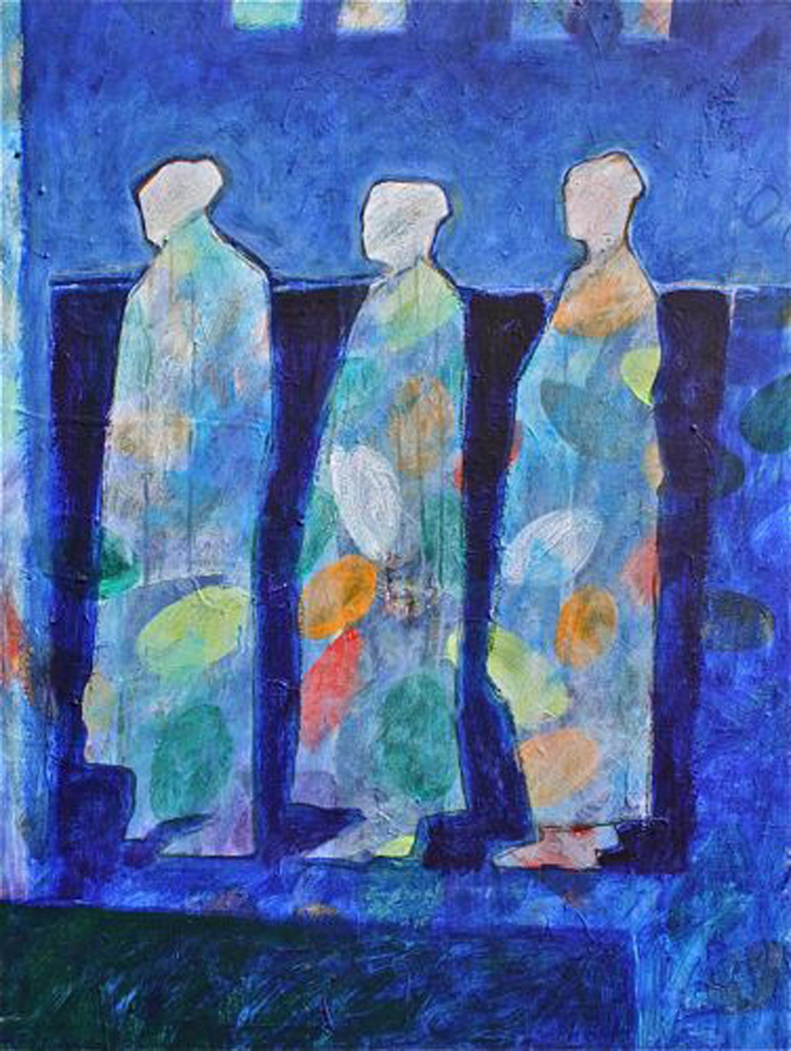 Lance Green, Garden Spirits, acrylic, 40 x 30.
