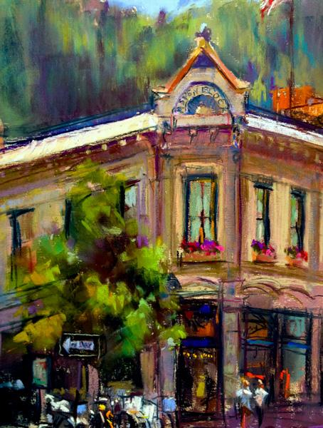 Greg Barnes, Aspen Block, pastel, 12 x 9.