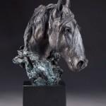 Greg Kelsey, Jicarilla Mustang, bronze, 12 x 10 x 8.