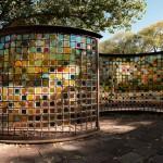 Greg Reiche, Light Arc I & II, iridized glass, 67 x 108 x 6.