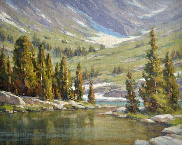 Greg Scheibel, Hiker's Reward, oil, 16 x 20.
